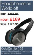 Bose QuietComfort 25 Noise Cancelling Headphones for Apple Devices