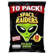 Space Raiders Pickled Onion Crisps 10Pk 118g 10PACK  2 for £1.00