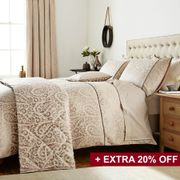 70% off Sofia Bedding in Latte at Bedeck