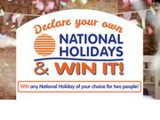 National Holidays - Choose Your Own Holiday, and Win It