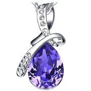 "Valentines Day - ""Eternal Love"" Luxury Crystal Pendant Necklace with Gift Box"