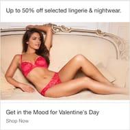 50% off Selected Womens Lingerie & Nightwear on Ebay