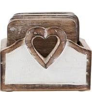 SASS & BELLE Wooden Heart Coaster Set