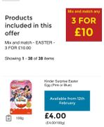 Large Easter Eggs 3 for £10 at Asda