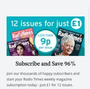 Radio times Magazine || 12 Issues for £1