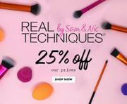 Real Techniques Brushes 25% off at Just My Look