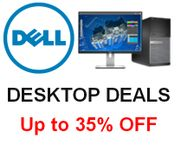 Up to 35% off DESKTOP DEALS at DELL!