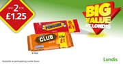 McVities Biscuit Bars, Buy One of Each 6 Pack for Only £1.25