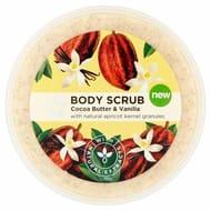 Superdrug Naturals Cocoa & Vanilla Body Scrub 200ml