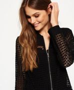 Superdry Analee Lacy Bomber Jacket - in Black or White - 70% Off