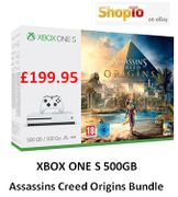 XBOX ONE S 500GB Assassins Creed Origins Bundle £199.95 at ShopTo on eBay
