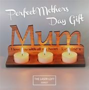 Mothers Day ..Bespoke Personalised Tealight Holder Free Delivery