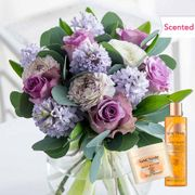 Scented Rose and Hyacinth Bouquet + FREE Spa Bundle, FREE Pop up Vase & Delivery