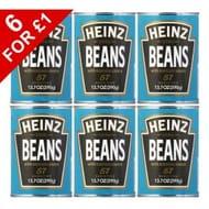 6 X Heinz Baked Beans 390g