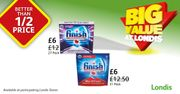 Finish Dishwasher Tablets Now Better than 1/2 Price