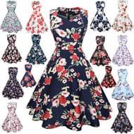 Vintage 1950's Style Ladies Dresses with Free P+P!
