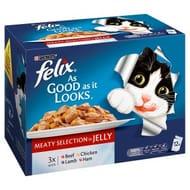 Felix as Good as It Looks Meaty Selection in Jelly 12 X 100g