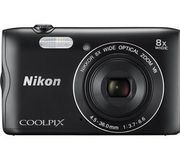 NIKON COOLPIX A300 20.1MP Compact Camera Black with Bluetooth at Currys/ebay