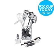HOME 9 Piece Stainless Steel Kitchen Utensil Set - from Argos/eBay