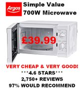 Cheap and Good Microwave Oven - 97% Would Recommend. **4.6 STARS**