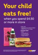 Subway - Kids Eat Free in Easter Holidays