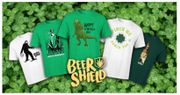 2 St Patrick's Day T-Whirts for £20 plus a FREE Beer Can Glass!