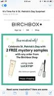 Birchbox Two Free Sample