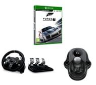 LOGITECH Driving Force Racing Wheel & Pedals Shifter & Forza Motorsport 7 Bundle