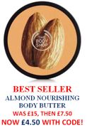 BODY SHOP BEST SELLER ALMOND BODY BUTTER - WAS £15 Now £4.50!