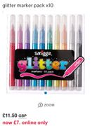 Smiggle Glitter Markers. Online Only
