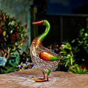 Metal Silhouette Duck - 36cm - Solar Powered