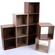 2 3 4 Tier Wooden Bookcase Shelving Display Shelves Storage Unit Wood Shelf Cube