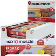 MEGA DEAL Maxi Muscle Promax Restore Bars Chocolate Orange Flavour 12 X 60g
