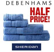 HALF PRICE Sheridan Towels at Debenhams - LUXURY EGYPTIAN COTTON
