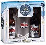 Coors Light Beertime Chill Pack Twin Pack 275ml Beer and Glass Gift Set.
