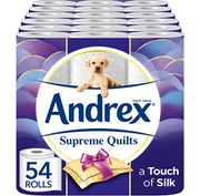 Andrex Supreme Quilts Toilet Roll Tissue Paper - 54 Rolls £19.99 at Amazon