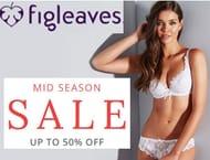 Lovely Lingerie 50% off - Figleaves mid Season Sale - Swimwear & Nightwear Too