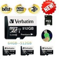 Verbatim Micro SD Card 64GB/128GB/256GB/512GB from £3.40