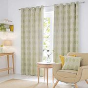 Half Price Woodbury Green Lined Eyelet Curtains