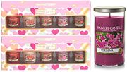 2 X Official Yankee Candle Valentines Love Hearts Votive Gift Sets