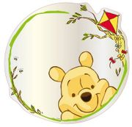 Disney Winnie the Pooh Mirror - 30 Cm H X 30 Cm W - save 66%