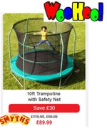 Go and Play Outside! Trampoline - Woo Hoo!!! save £30 at SMYTHS