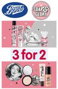 SOAP & GLORY - 3 for 2 - Cheapest Free. plus FREE LUXURY GIFT BOX
