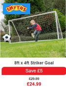 It's a GOAL! Perfect for Little Strikers!