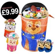 Paw Patrol Laundry Bin/Toy Box + FREE Matching Slippers