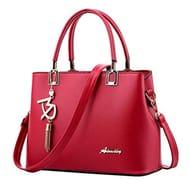 Toamen PU Leather Womens Shoulder Bags Top-Handle Handbag Tote Purse Bag