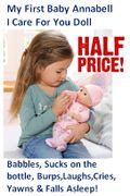 HALF PRICE! My First Baby Annabell I Care for You Doll