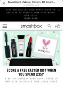 Free Gift worth £25 When You Spend £35 at Smashbox Cosmetics
