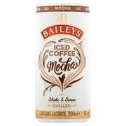 Baileys Iced Coffee Mocha or Latte 200ml - 4 for £5