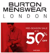 Burton Men's Sale Has Started - up to 75% off TROUSERS!